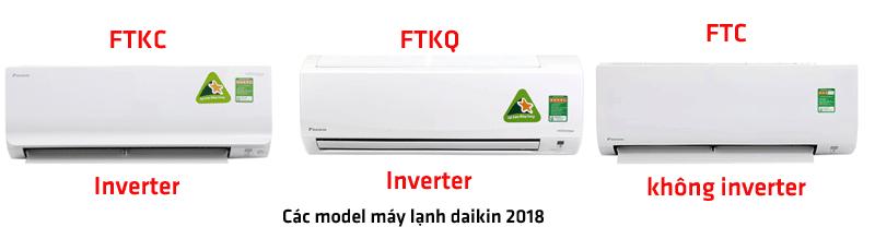 Máy lạnh Daikin sản xuất 2018 có những model nào